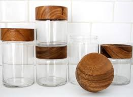 wooden kitchen canisters wood glass canisters accessories better living through design