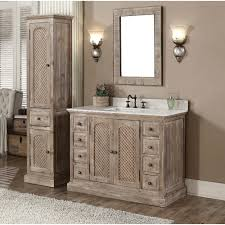 bathroom vanity with linen tower laurel foundry modern farmhouse clemmie 49 single bathroom vanity