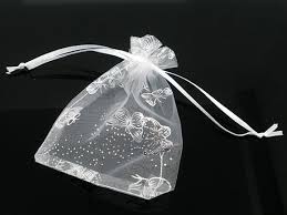 white organza bags 200pcs white organza bags wholesale butterfly favor bags