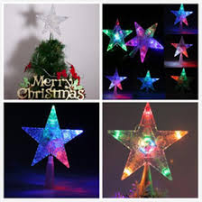 Star Christmas Tree Toppers Lighted - lighted star tree topper online lighted star christmas tree