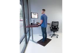 Standing Corner Desk Omega Olympus Standing Desk With Built In Steadytype Keyboard Tray
