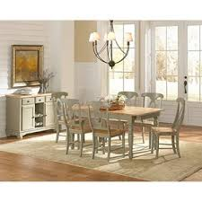Dining Room Setting 9 Oval Table And Keyhole Chair Dining Set By Aamerica Wolf