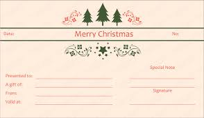 merry christmas gift certificate templates rainforest islands ferry