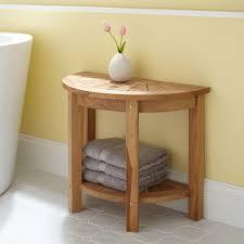 Wood Shower Stool Small Teak Shower Stool Designs U2014 Flapjack Design