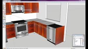 Sketchup Kitchen Design How To Draw A Kitchen With Free Software 6 Of 8 Youtube