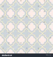 pastel gray traditional geometric quatrefoil trellis stock vector
