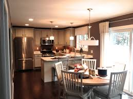 kitchen eat in kitchen black finish cabinets track dull lamps