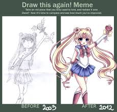 How To Draw Meme - draw this again meme sailor moon by midna01 on deviantart