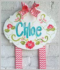 bow holder personalized hair bow holder coral and teal handmade