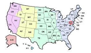 united states map with all the states and cities college faculty staff and student at