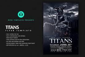 titans flyer template flyer templates creative market