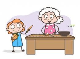 chimie et cuisine bande dessinée scientifique enfants étudient et travaillent et