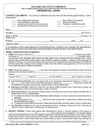 free rental lease agreement download oklahoma rental lease agreement templates legalforms org