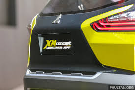 mitsubishi xm concept giias 2016 mitsubishi xm concept makes world debut low mpv to