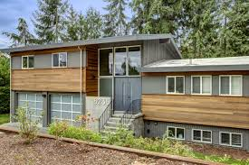 split level exterior makeover the modern split u2013 board u0026 vellum