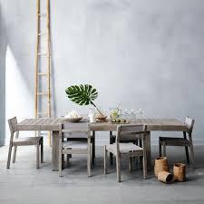 West Palm Beach Patio Furniture by Portside Textilene Dining Chair Weathered Grey West Elm Au