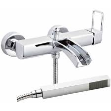 ultra nevada wall mounted chrome waterfall bath shower mixer tap