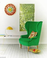 Green Velvet Armchair Interiors Put A Bold Spin On He New Floral Prints By Going Large