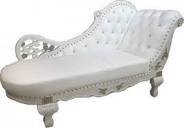 wohnzimmer liege barock chaiselongue weiß gold echt leder chaise lonque