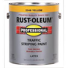 shop rust oleum professional traffic striping yellow flat acrylic