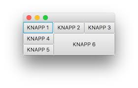 javafx grid layout exle java how to make buttons span mutiple columns rows with gridpane