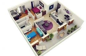 3 Bedrooms House Plans Designs Awesome 3d Simple House Plans Designs 3 Bedroom House Floor Plan