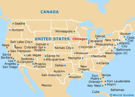 New Orleans On Map Where Is Chicago Il Where Is Chicago Il Located In The World As