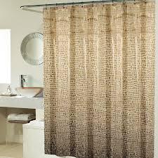 Unique Fabric Shower Curtains Curtains Minimalist Bathroom Design Ideas With Brown