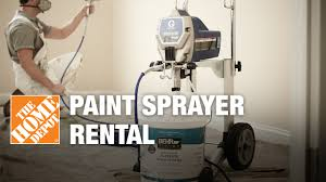 Paint Spray Gun Hire - paint sprayer rental the home depot youtube