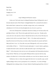 roger chillingworth character analysis the scarlet letter