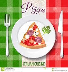 italie cuisine cuisine italienne traditionnelle illustration de vecteur