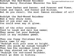 rudolph red nosed reindeer george strait lyrics