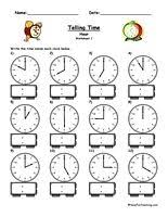 73 best telling time images on pinterest math activities