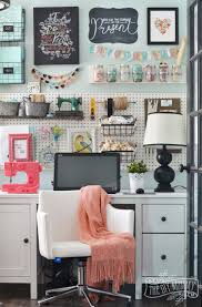 Decorate My Office by My Colourful Boho Craft Room Office Tour Video The Diy Mommy
