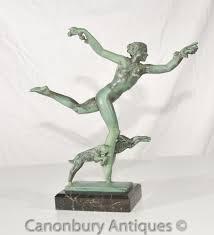 Antike Esszimmerst Le Bronze Figur Statue Canonbury Antiquitäten London