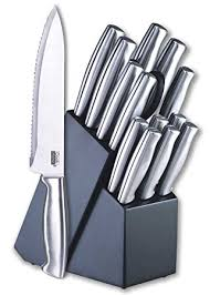 amazon kitchen knives amazon com cook n home 15 stainless steel cutlery set with