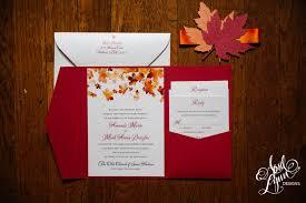 fall themed wedding amanda s fall themed wedding invitation suite april