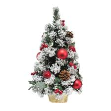 Mini Decorated Christmas Trees 2ft 60cm Mini Decorated Green Pine Christmas Tree Red Apples