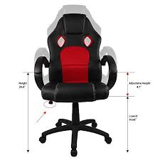 Red Leather Office Chair Homall Desk Chair Executive Swivel Leather Office Chair Racing