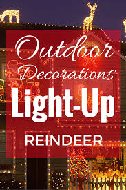 light up reindeer outdoor yard decoration prep s finest