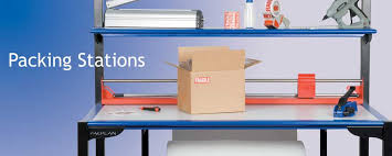 packing table with shelves pacplan ergoline packing stations by lynx polythene manufacturers