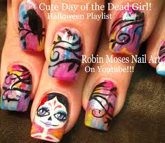 cute halloween skeleton robin moses nail art cute halloween skeleton nails skeleton robin