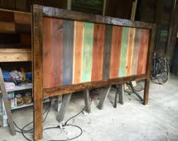 Distressed Wood Headboard by Barnwood Headboard Etsy