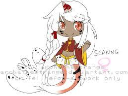Seaking Meme - seaking gijinka chibi felinefox artwork by arohathestrange on