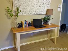 Ana White Desk Plans by Ana White Narrow Farmhouse Table Diy Projects