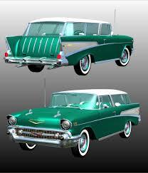 nomad car 1957 chevrolet nomad 1957 for poser 3d models 3dclassics