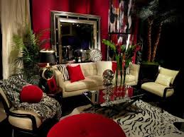 themed living rooms style in the interior design prints room and zebra print
