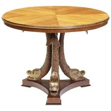 neoclassical style dolphin center or viyet designer furniture tables antique italian parcel gilt