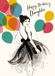 daughter birthday balloons card karenza paperie