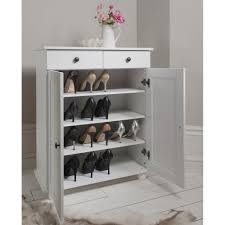 White Shoe Storage Cabinet Heathfield Shoe Storage Unit In White Noa Nani